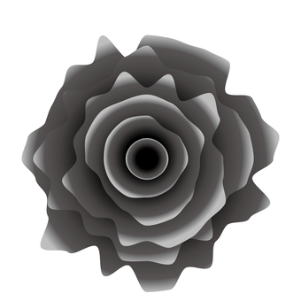 Gritty realistic black rose icon material