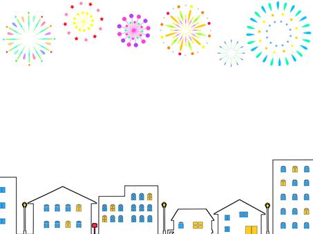 Fireworks Cityscape Frame 2