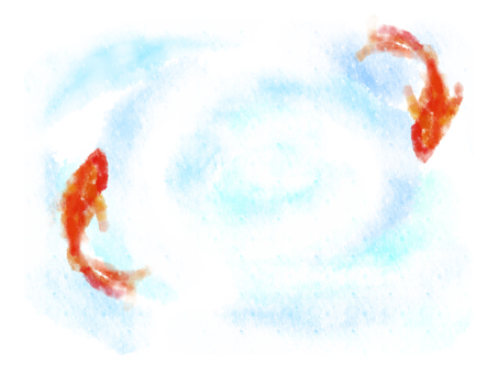 Red goldfish and water surface