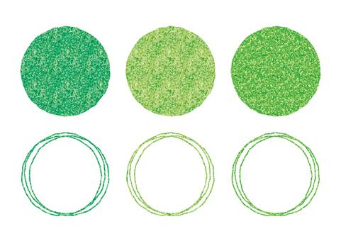 Green circle frame