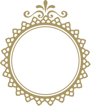 Decoration frame gold circle