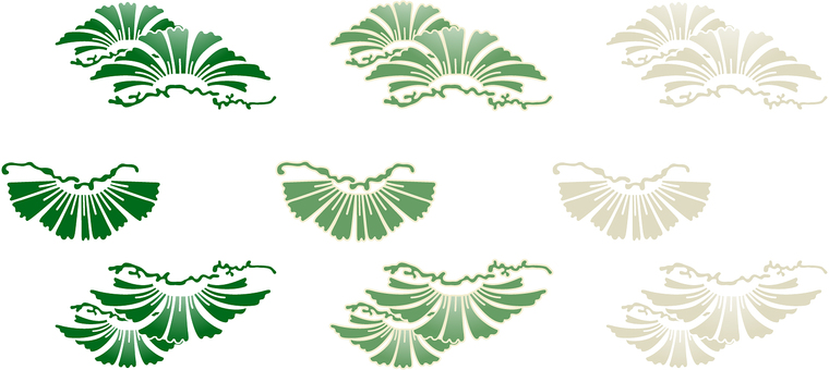 ai Japanese style · Simple pine 3 piece set