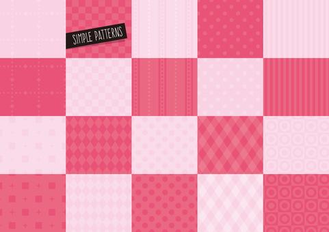 Simple pattern set PINK