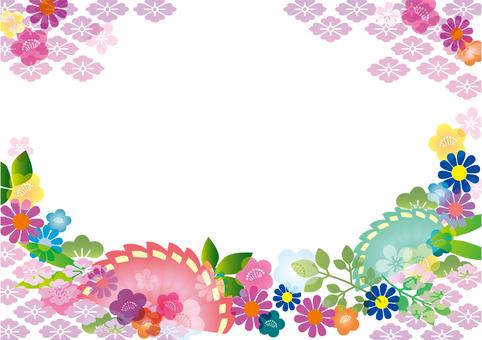 Japanese frame pink