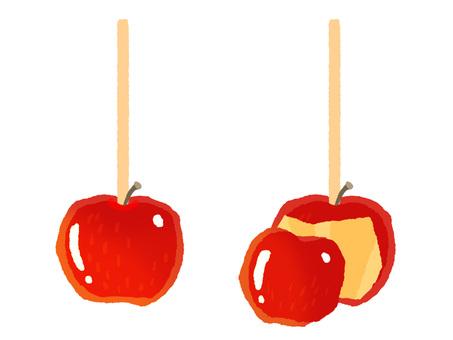 사과 사탕