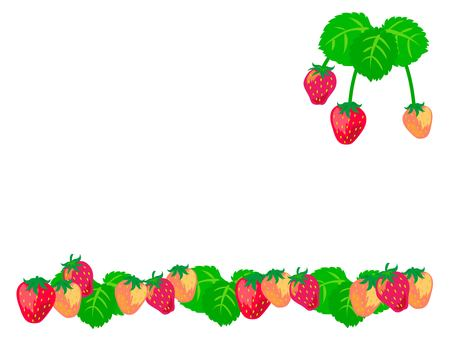 Strawberry fruit and leaf frame 1