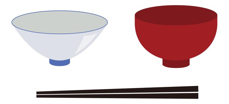 Bowl, bowl, tea bowl, chopsticks / tableware