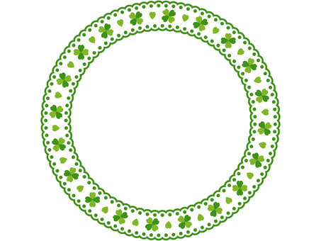 Clover pattern lace circular frame 1