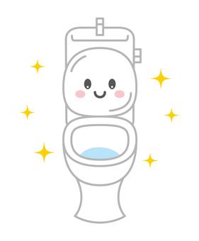 깨끗한 화장실 캐릭터 일러스트