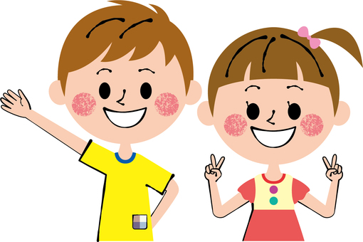 Energetic Child Pair Upper Body