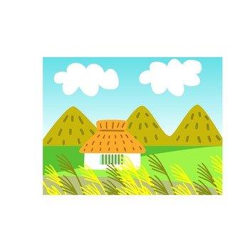 Autumn house icon 2