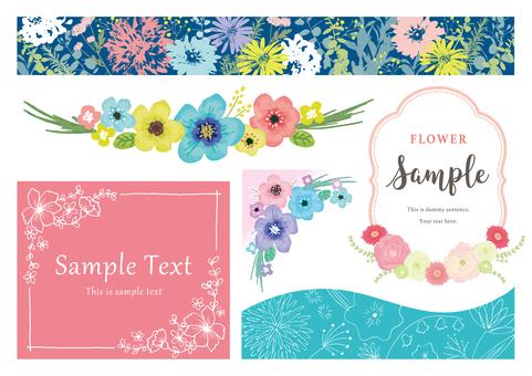 Flower belt and frame set