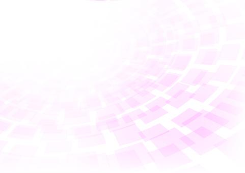 パステルトーンピンク色同心円背景素材