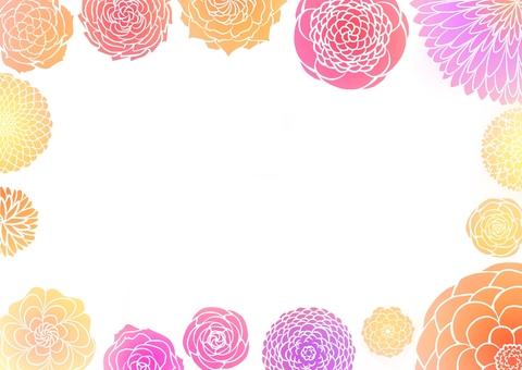 Japanese style flower pattern
