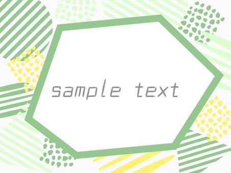 Pop illustration frame