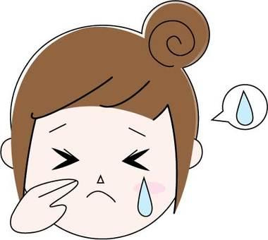 슬픈 · 얼굴 · 여성 · 경단 머리