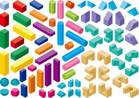 積み木 カラフル  玩具 セット