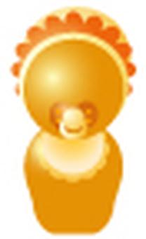 Simplified human-orange (baby)