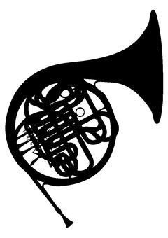 Silhouette horn