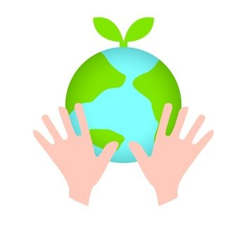 Hands to protect the earth