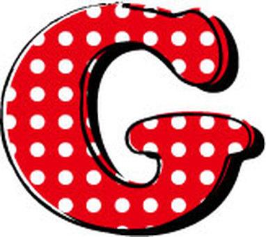 Dotted alphabet G