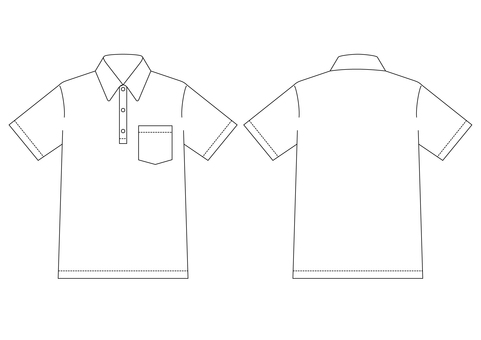 Plain side of a plain polo shirt