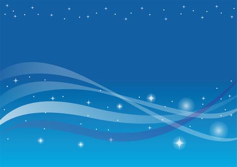 Glitter wave blue background