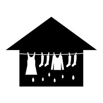 Image of room drying (silhouette)