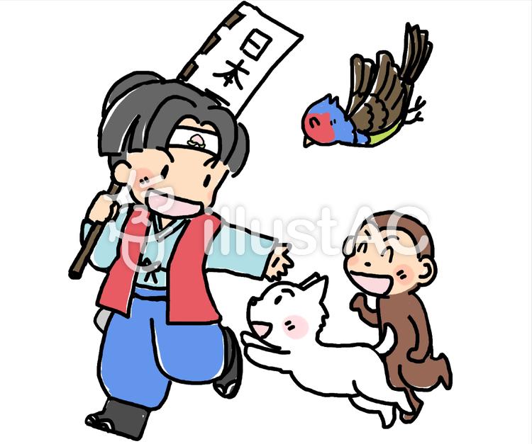 桃太郎と犬猿キジイラスト No 18492無料イラストならイラストac