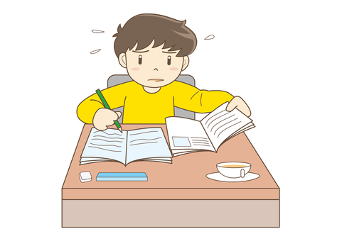 A child to study hard