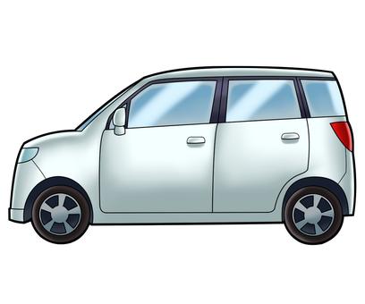軽自動車(白)