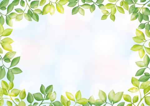 수채화 잎 7