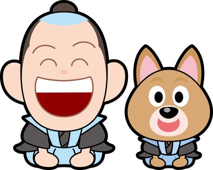 Dog Samurai greeting