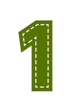 Numerals (1) applique style