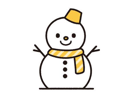 Snowman (Yellow)