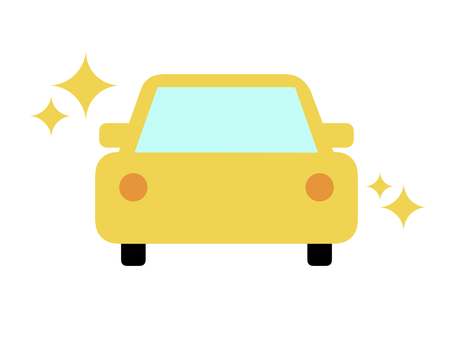 Car car horizontal yellow glitter