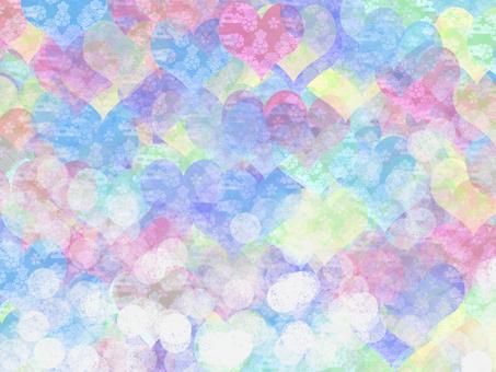 Background Japanese Pattern Heart 3