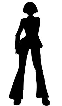 Businesswoman, silhouette