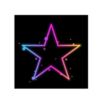 Neon color star
