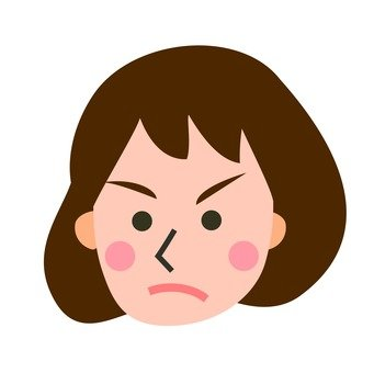 Facial expression - get angry
