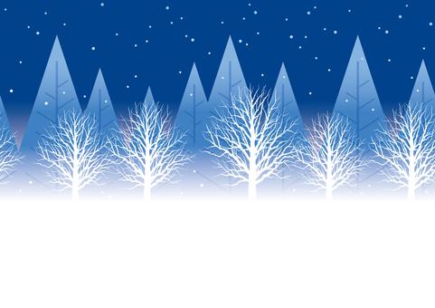 シームレスな冬の森
