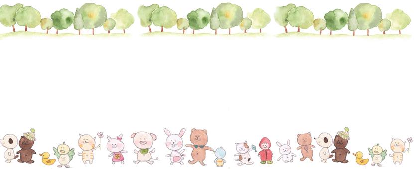 동물 그림의 테두리 프레임