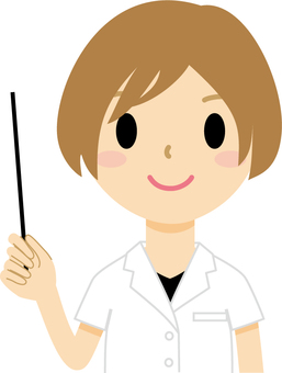 Female 5 with pointing stick (doctor)