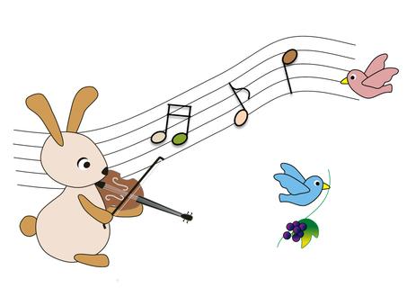 동물 _ 토끼 _ 바이올린