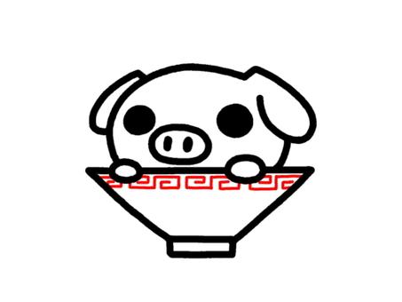 Pork bone ramen white