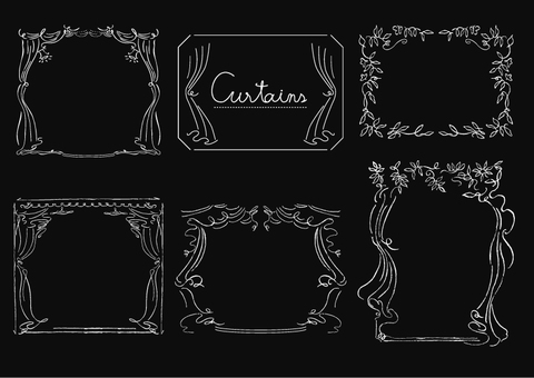 Curtain-like frame