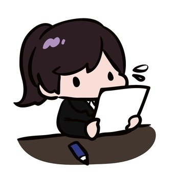 Female student under test