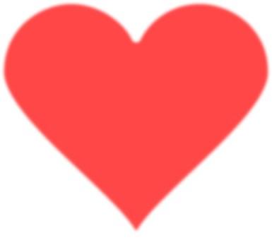Heart mark (blur) Red