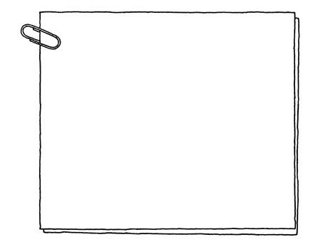 Notepad (clip) monochrome