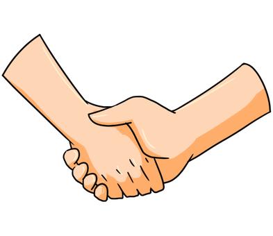 Hand shaking hands